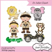 On Safari Cute Jungle Animal Clipart CU4CU CU PU