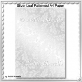 Silver Leaf Patterned A4 Paper