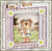 A Daisy for you 7x7 card and decoupage