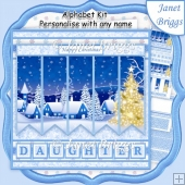 CHRISTMAS WINTER VILLAGE 7.5 Quick Card Kit Create Any Name