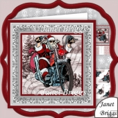 Biker Santa Christmas 8x8 Pyramage Kit