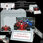 Grand Prix Racing A Box Card Kit With Instructions & Envelope