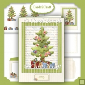 Christmas tree and parcels card set