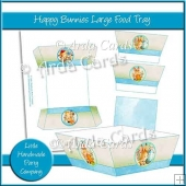 Happy Bunnies Large Food Tray