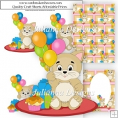 Birthday Kitten Decoupage Set