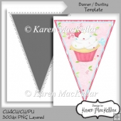 CU4CU Party Banner Bunting Flag Template 300dpi Printable A4