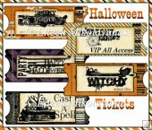Halloween Fright Night Tickets Set
