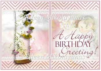 A Happy Birthday Greeting Card Insert / Topper
