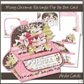 Mooey Christmas Rectangle Pop Up Box Card