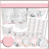 Raccoons In Love Silver Party Set