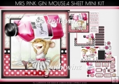 Mrs Pink Gin Mouse 4 Sheet Mini Kit