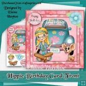 Hippie Birthday Card Front