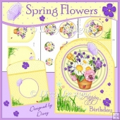 Spring Flowers Rounded Top Card