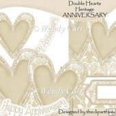 double hearts card top heritage anniversary layered male card front