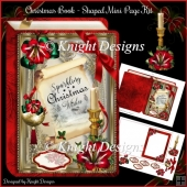 Christmas Book 5x7 Shaped Mini Page Kit