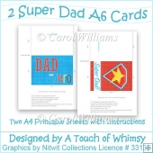 2 Super Dad A6 Cards