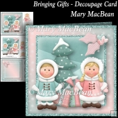 Bringing Gifts - Decoupage Card