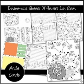 Inkenomical - Shades Of Flowers List Book