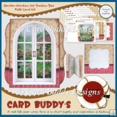 Garden Window 7x7 Shadow Box Fold Card Kit