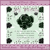 Rose Card Front - Green