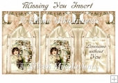 Missing You Window Collage Insert