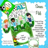 BOYS FOOTBALL SOCCER TWIST AND POP CARD KIT