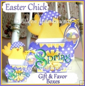 Easter Chick Gift and Favor Boxes Set with Crafting Directions
