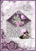 Romantic Love Letter Backing Background Paper