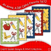 An Apple A Day 5 Card Fronts Set 2