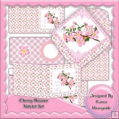 Cherry Blossom Notelet Set