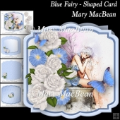 Blue Fairy - Shaped Card