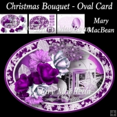 Christmas Bouquet - Oval Card