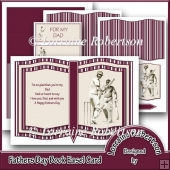 Fathers Day Book Easel Card