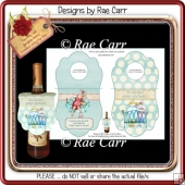 PS175 Wine, Champagne or Beer Bottle Gift Tags for the Ladies