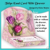 Tulips Easel With Drawer Card