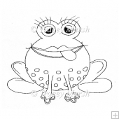 Froggie Clipart - Digital Stamp