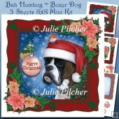 Bah Humbug ~ Boxer Dog ~ Christmas Mini Kit with Decoupage