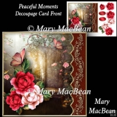 Peaceful Moments - Decoupage Card Front