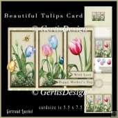 Beautiful Flower Cardkit tulips