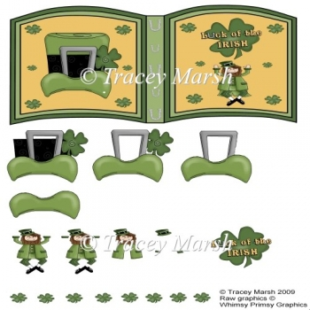 'Luck of the Irish' St Patricks Day Open Book Page