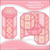 Pink Princess Hexagonal Secret Treasure Box