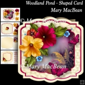 Woodland Pond - Shaped Card