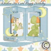 Window box card Happy Birthday Boy