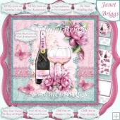 CHAMPAGNE CELEBRATIONS 8x8 All Occasions Decoupage & Insert Kit