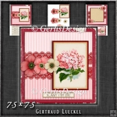 Vintage Lace Flower Pink Card Kit 1223