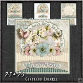 Vintage Pastel Shabby Chic Card Kit 1197