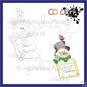 Season Greetings snowman Digi stamp