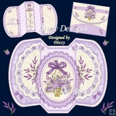 Lace and Lavender FourFold Card