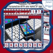 SMARTPHONE & LAPTOP 7.5 Alphabet and Age Quick Card Kit