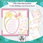 A Day Filled With Sunshine 7.5 Inch Birthday Card Front & Insert